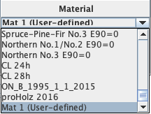 material selection list